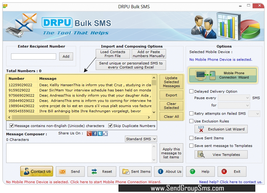 Sms Any Number Software