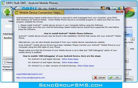 Mobile messaging tool deliver unlimited SMS